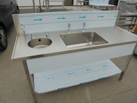 New B Grade Stainless Steel Double Bowl Sink (5999)