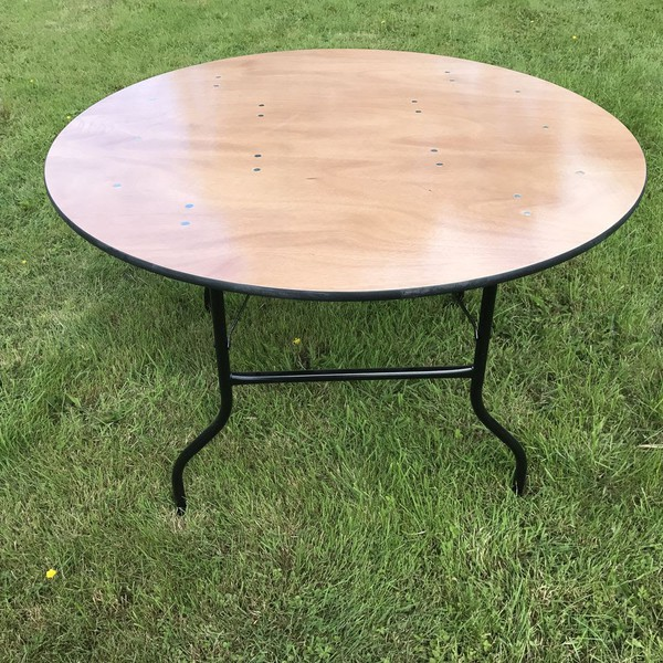 round fold leg tables for sale