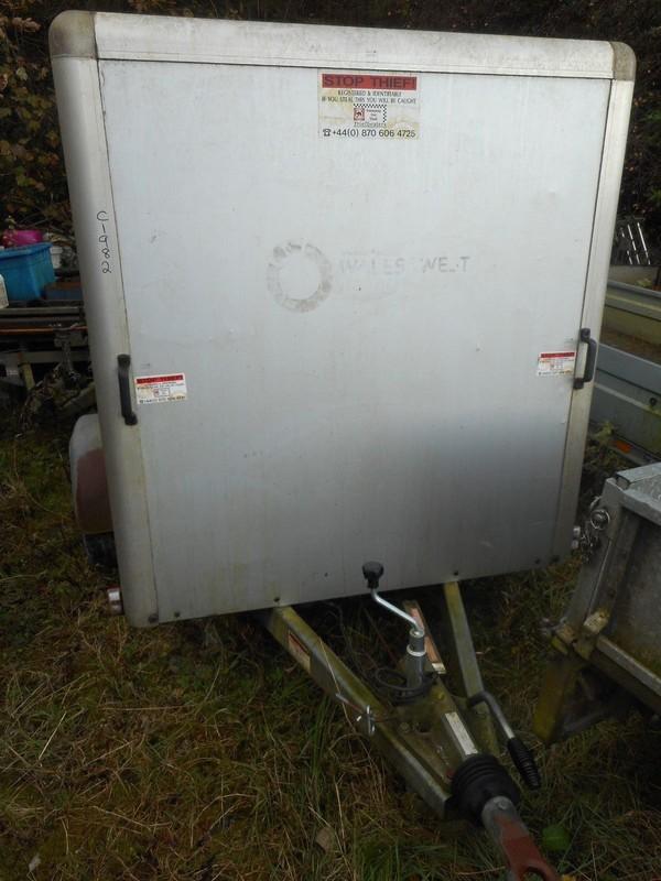 Indespension 6Ft X 4Ft 5Ft High Silver Box Van Trailer C1982 for sale