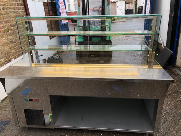 Fridge display counter for sale