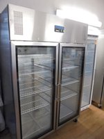 Commercial glass fridge