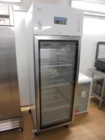 New B Grade Polar CW197 Stainless Steel Upright Glass Door Fridge (6022)