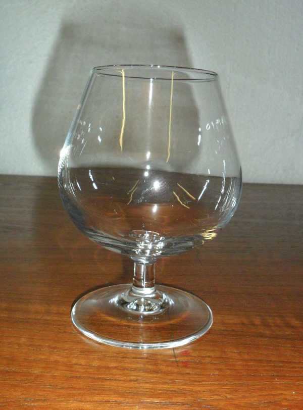 Used brandy glasses