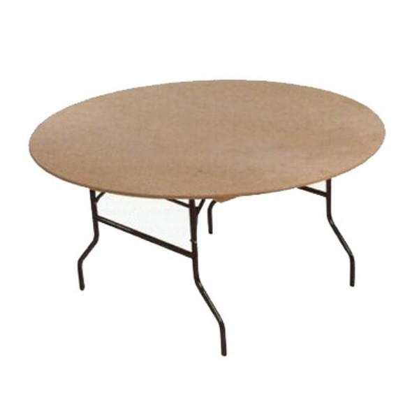 Round tables with folding legs