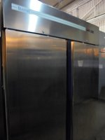 Stainless Steel Beaufort Double Door Upright Fridge (6056)