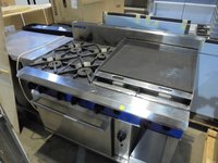Commercial flat griddle oven