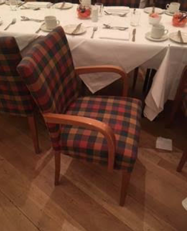 Tartan dining chairs for sale