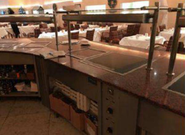 Used hotel food server