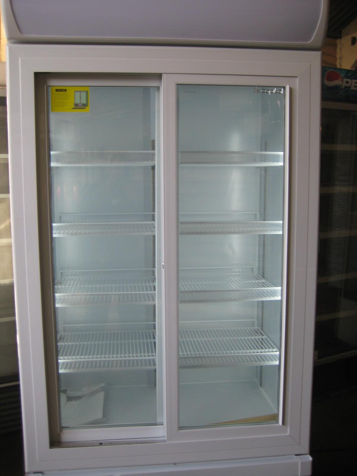 Secondhand shop equipment upright fridges 1 metre for 1 door display chiller