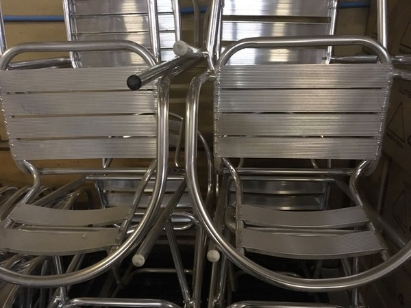 Job Lot of Aluminium Bistro  Furniture