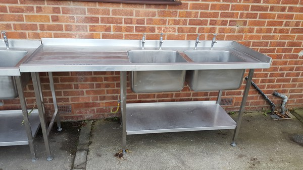 Commercial double sink for sale