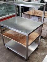Table with gantry shelf