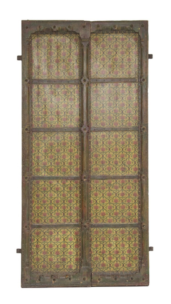 Pair of Late 19th Century Painted Doors from Gujurat