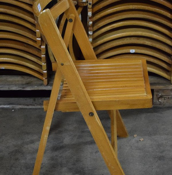 Vintage Wooden Folding Wedding Chairs