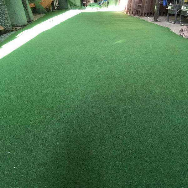 Green carpeting