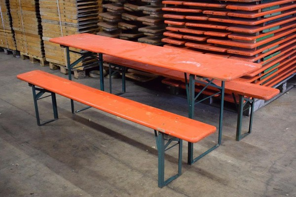 Vintage beer trestle table