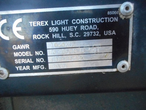 Buy Used Terex RL4000 Towable Lighting Tower