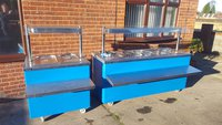 Pair Wet Well Carvery / Hot Cupboard / Bain Marie / Heated Gantry