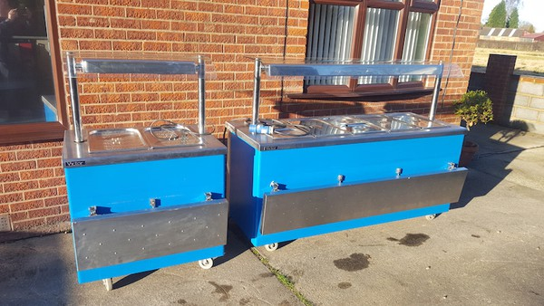 Matching Pair Wet Well Carvery / Hot Cupboard / Bain Marie / Heated Gantry