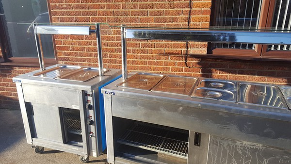 Wet Well Carvery / Hot Cupboard / Bain Marie / Heated Gantry. MATCHED PAIR.