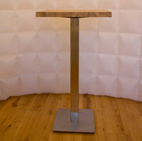 Wooden poseur tables