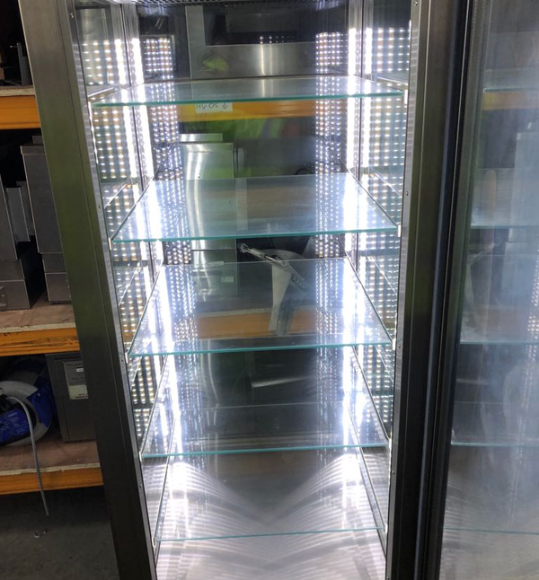 Stainless steel display fridge