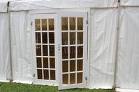 Double doors for marquee