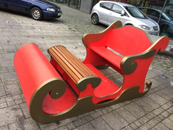 Used Santa sleigh