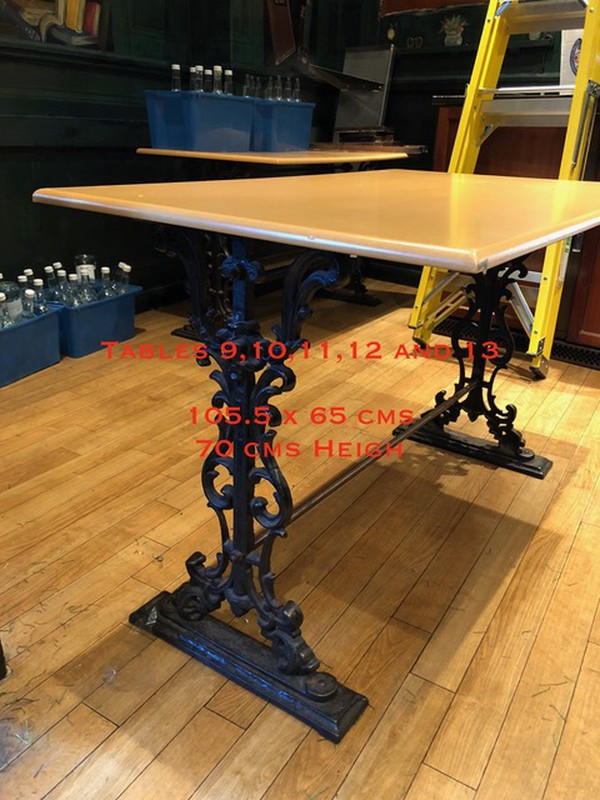Cast Iron base pub table