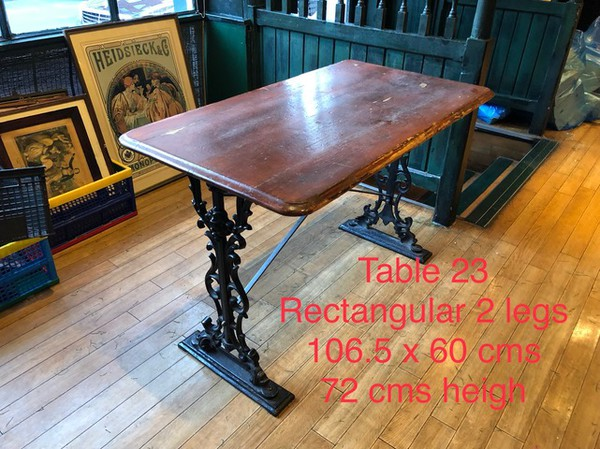 Traditional pub table