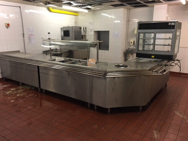 Large Stainless Steel Buffet Servery
