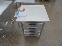 Steel table with draws for sale