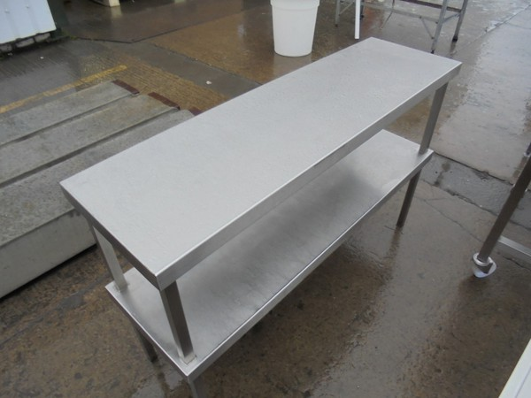 Used Stainless Steel Double Gantry Shelf	(6099)
