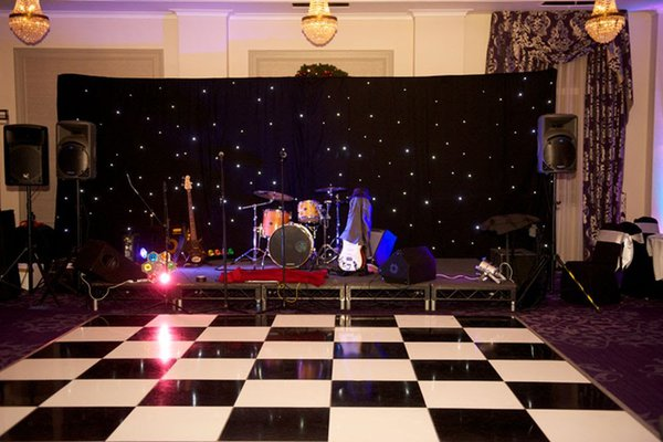 LED Star cloth for band back drop