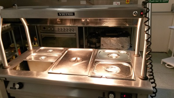 Hot cupboard with bain marie pots for sale