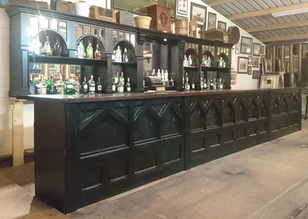 Dark wooden bar Worldwide delivery