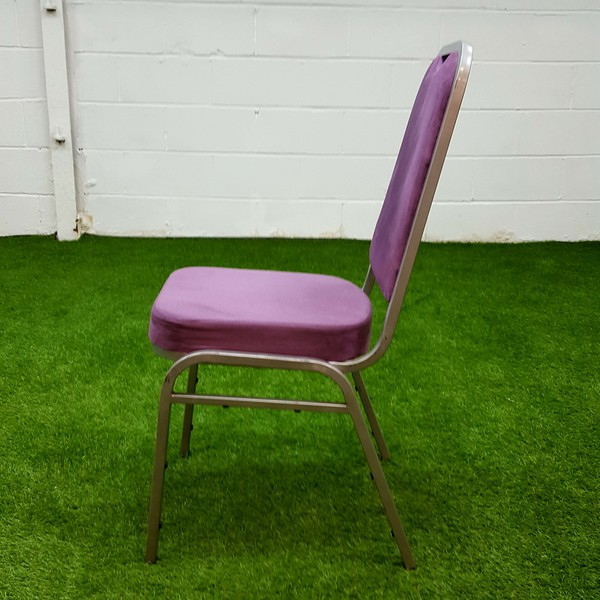 Purple banqueting chairs