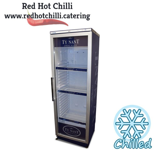 Single upright bottle cooler