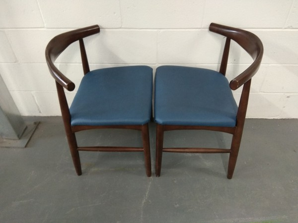 Cowhorn style chairs for sale