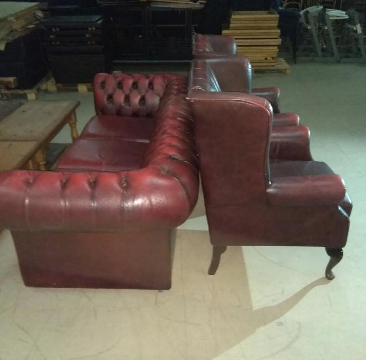 High Quality Chesterfield Sofa For Sale Wing Back Chairs And Sofa Set ... Images