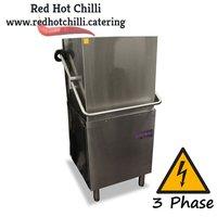 Pass through dishwasher unit