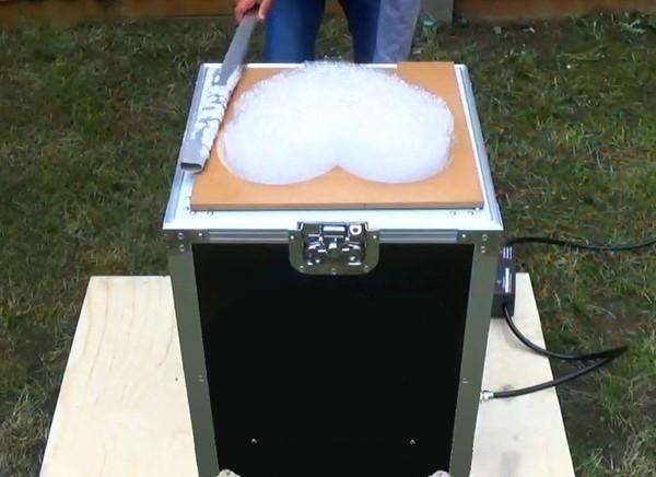 Secondhand logo bubble machine