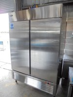 Used Atosa MBL8960 Stainless Steel Double Upright Fridge Chiller Kitchen Restaurant Prep	(6137)