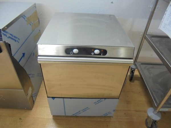 Front loading under counter glass washer