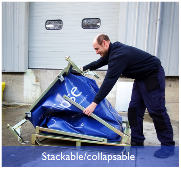 Collapsible Water Ballast Containers