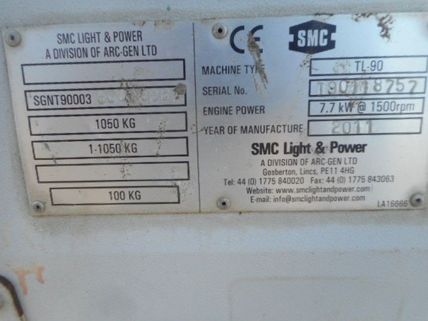 Secondhand lighting tower for sale