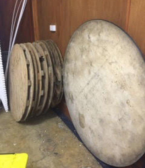 Round wooden tables for sale