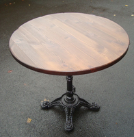 Iron cast table bases