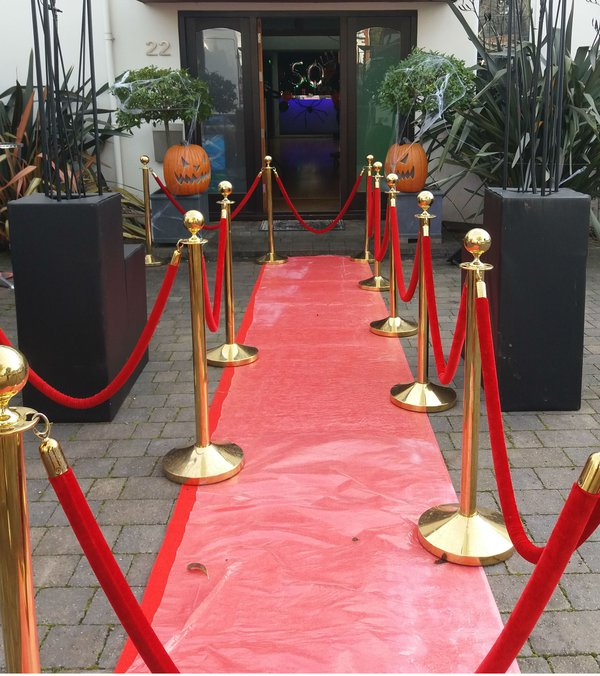 VIP Barriers with rope and post