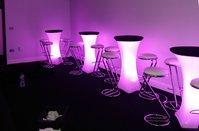 illuminated poseur tables
